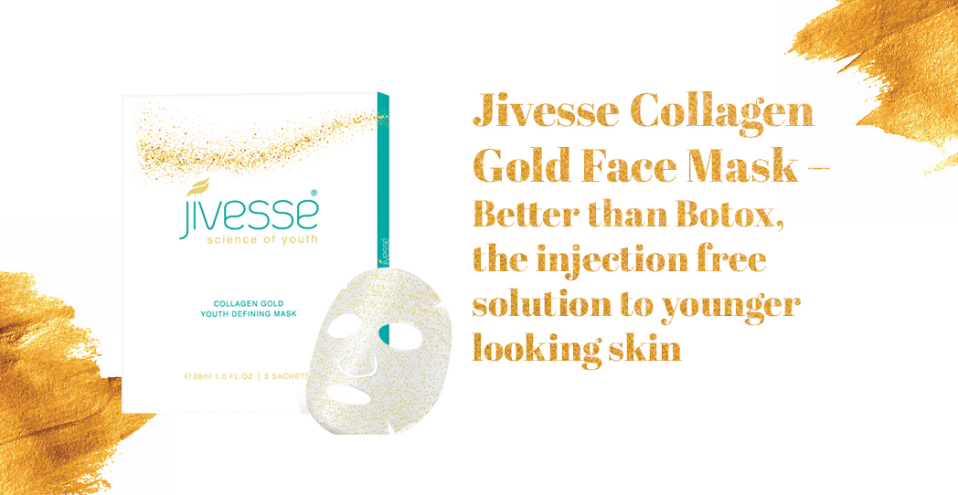 Jivesse Collagen Gold Face Mask – Better than Botox, the injection free solution to younger looking skin
